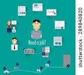 illustration job search. it... | Shutterstock .eps vector #289840820