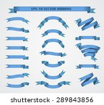 design elements. set of blue... | Shutterstock .eps vector #289843856