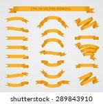 design elements. set of orange... | Shutterstock .eps vector #289843910