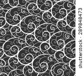 white lace seamless pattern on... | Shutterstock . vector #289848473
