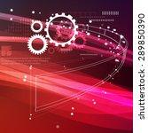 gear process abstract... | Shutterstock . vector #289850390