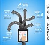 abstract 3d modern digital... | Shutterstock .eps vector #289850768