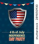 fourth of july  american... | Shutterstock .eps vector #289850930
