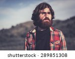 handsome bearded young man... | Shutterstock . vector #289851308