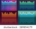 set of vector music volume waves | Shutterstock .eps vector #289854179
