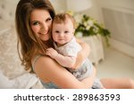 mother and baby. happy family.... | Shutterstock . vector #289863593
