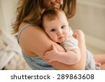 mother and baby. happy family.... | Shutterstock . vector #289863608
