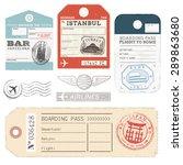 a set of high detail grunge... | Shutterstock .eps vector #289863680
