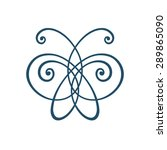 Vector Icon Butterfly. Logo...