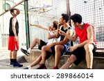 basketball players take a break ... | Shutterstock . vector #289866014