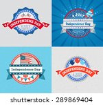 happy independence day badge... | Shutterstock .eps vector #289869404