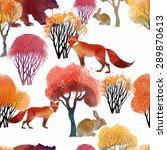 watercolor vector animal...   Shutterstock .eps vector #289870613