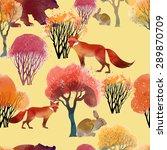 watercolor vector animal...   Shutterstock .eps vector #289870709