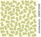 yellow farfalle pattern italian ... | Shutterstock .eps vector #289873340