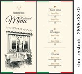 restaurant menu design. vector... | Shutterstock .eps vector #289873370