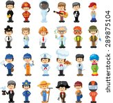 cartoon vector characters of... | Shutterstock .eps vector #289875104