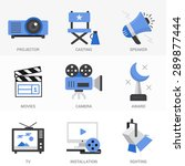 Flat Icons Set.online Movies ...