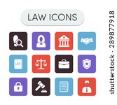 set of colored vector justice ... | Shutterstock .eps vector #289877918