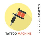 modern flat tattoo machine icon ... | Shutterstock .eps vector #289877924