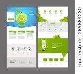eco one page website design...