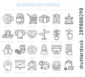 simple linear icons in a modern ... | Shutterstock .eps vector #289888298