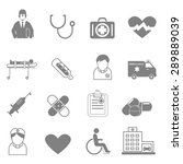 vector icons and symbols... | Shutterstock .eps vector #289889039