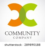 community letter c alphabet... | Shutterstock .eps vector #289890188