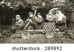 Vintage Photo Of A Men In Goofy ...