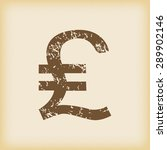 grungy brown icon with pound...