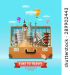 vacation vector logo design... | Shutterstock .eps vector #289902443