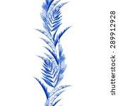 vector floral watercolor... | Shutterstock .eps vector #289912928