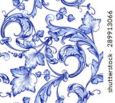 vector floral watercolor... | Shutterstock .eps vector #289913066