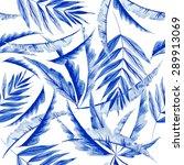 vector watercolor blue texture... | Shutterstock .eps vector #289913069