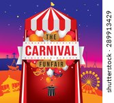 the carnival funfair and magic... | Shutterstock .eps vector #289913429