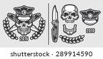 skull policeman head in cap... | Shutterstock .eps vector #289914590