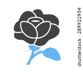 rose  flower  petals icon... | Shutterstock .eps vector #289922954
