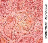 vintage floral motif ethnic...   Shutterstock .eps vector #289928960