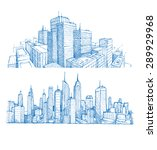 hand drawn cityscapes and... | Shutterstock .eps vector #289929968