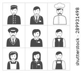 hotel and restaurant staff.... | Shutterstock .eps vector #289931498