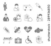 vector icons  and medical... | Shutterstock .eps vector #289936850