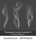 vector set of transparent white ... | Shutterstock .eps vector #289940633