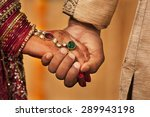 close up of hands of newly... | Shutterstock . vector #289943198