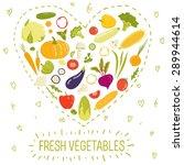 healthy food card  vector... | Shutterstock .eps vector #289944614