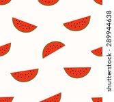 seamless watermelon pattern | Shutterstock .eps vector #289944638