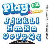 children video game letters....   Shutterstock .eps vector #289946468