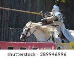 Jousting Knight On Horseback...