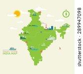 india map   flat design  info... | Shutterstock .eps vector #289947098