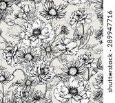 summer monochrome vintage... | Shutterstock .eps vector #289947716