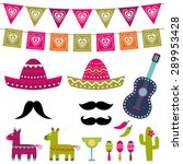 mexican party vector decoration ... | Shutterstock .eps vector #289953428