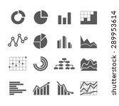 different graphic business... | Shutterstock .eps vector #289953614